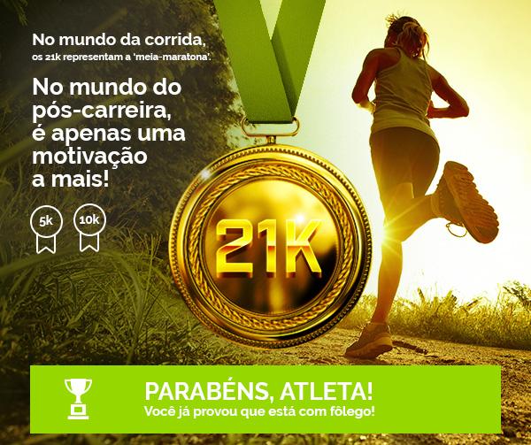 """No mundo da corrida, os 21k representam a """"meia maratona"""". No mundo pós-carreira é apenas uma motivação a mais!"""